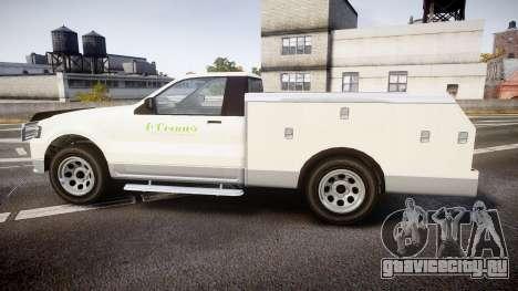 GTA V Vapid Utility Truck для GTA 4 вид слева