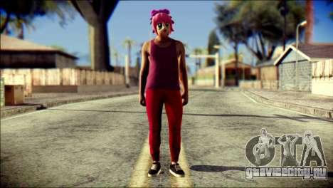 Skin Kawaiis GTA V Online v1 для GTA San Andreas