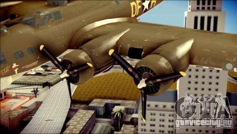 B-17G Flying Fortress для GTA San Andreas вид справа