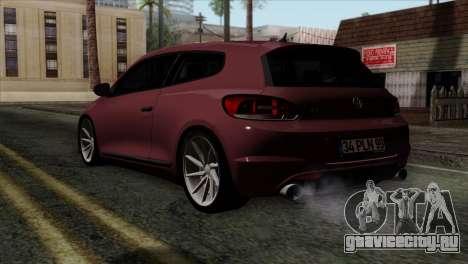 Volkswagen Scirocco R для GTA San Andreas вид слева