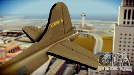 B-17G Flying Fortress для GTA San Andreas вид сзади слева