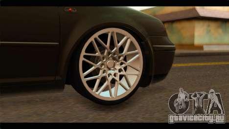 Volkswagen Bora 2007 для GTA San Andreas вид сзади слева