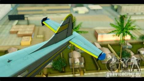 GTA 5 Sea Plane для GTA San Andreas вид сзади слева