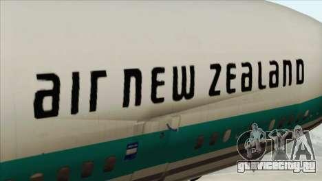 DC-10-30 Air New Zealand для GTA San Andreas вид сзади
