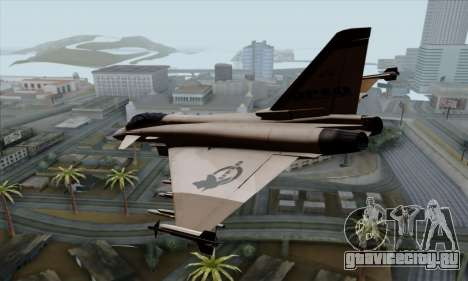 Eurofighter Typhoon 2000 UPEO для GTA San Andreas вид слева