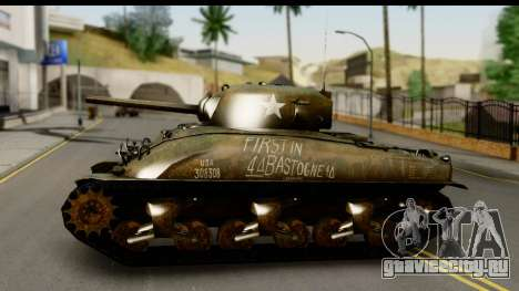 M4A1 Sherman First in Bastogne для GTA San Andreas вид сзади слева