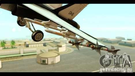 McDonnell Douglas FA-18 HARV v2 для GTA San Andreas вид справа