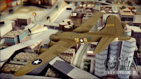 B-17G Flying Fortress для GTA San Andreas вид слева