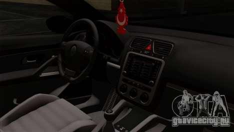 Volkswagen Scirocco R для GTA San Andreas вид справа