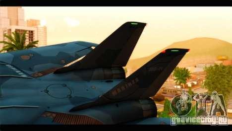 Grumman F-14D SuperTomcat Metal Gear Ray для GTA San Andreas вид сзади слева