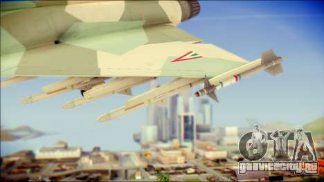 EuroFighter Typhoon 2000 Hungarian Air Force для GTA San Andreas вид справа