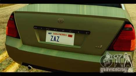 GTA 4 Pinnacle для GTA San Andreas вид сзади
