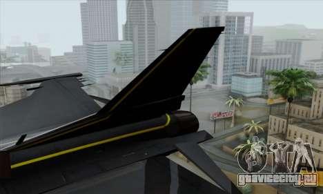 F-16XL для GTA San Andreas вид сзади слева