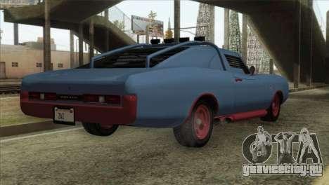 GTA 5 Imponte Dukes ODeath IVF для GTA San Andreas вид сзади слева