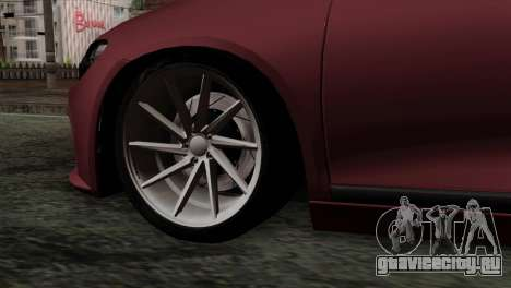 Volkswagen Scirocco R для GTA San Andreas вид сзади слева