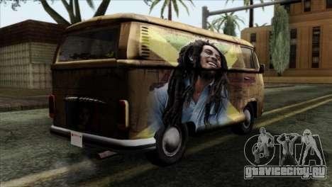 Volkswagen T2 Bob Marley для GTA San Andreas вид слева