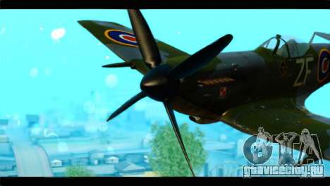 Supermarine Spitfire F MK XVI 318 SQ для GTA San Andreas вид сзади