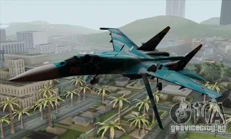 SU-27 Flanker A Warwolf Squadron для GTA San Andreas