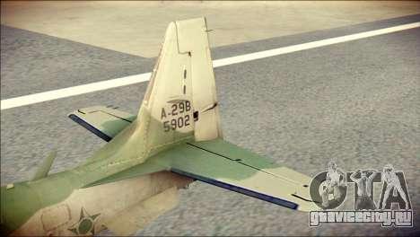 Embraer EMB-314 Super Tucano E для GTA San Andreas вид сзади слева