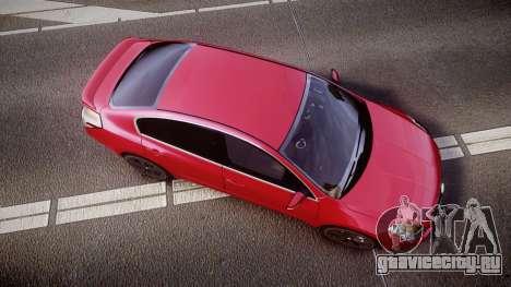 Nissan Altima 3.5 SE для GTA 4 вид справа