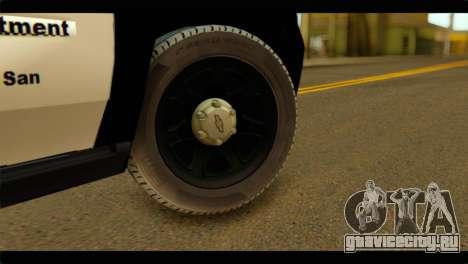 Chevrolet Suburban 2015 SAPD для GTA San Andreas вид сзади слева