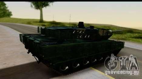 Leopard 2A6 Woodland для GTA San Andreas вид слева