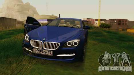 BMW 6 Series Gran Coupe 2014 для GTA San Andreas вид сзади