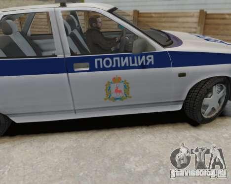 ВАЗ 2112 ДПС для GTA 4 вид справа