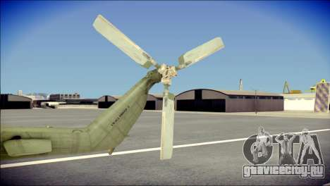 Mil Mi-8 Polish Air Force Afganistan для GTA San Andreas вид сзади слева