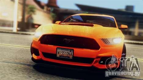 Ford Mustang GT 2015 Stock Tunable v1.0 для GTA San Andreas вид снизу