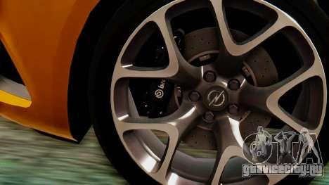 Opel Astra J OPC для GTA San Andreas вид справа