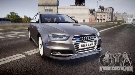 Audi S4 Avant Unmarked Police [ELS] для GTA 4