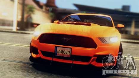Ford Mustang GT 2015 Stock Tunable v1.0 для GTA San Andreas салон