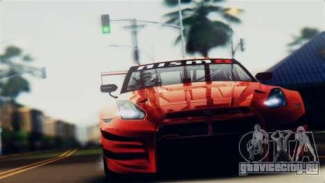 Nissan GT-R (R35) GT3 2012 PJ5 для GTA San Andreas вид справа