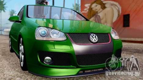 Volkswagen Golf Mk5 GTi Tunable PJ для GTA San Andreas вид изнутри