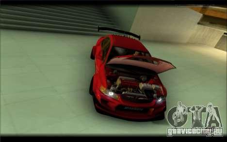 Mitsubishi Lancer Evolution IX Street Edition для GTA San Andreas вид сзади слева