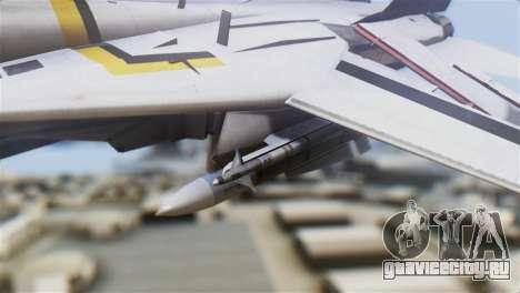 F-14D Tomcat Macross Yellow & Black для GTA San Andreas вид справа