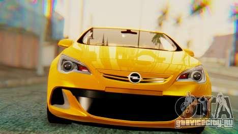 Opel Astra J OPC для GTA San Andreas вид слева