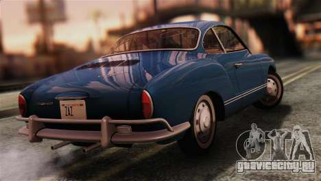 Volkswagen Karmann-Ghia Coupe (Typ 14) 1955 IVF для GTA San Andreas вид слева