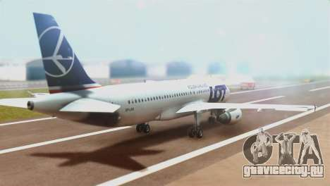 LOT Polish Airlines Airbus A320-200 (New Livery) для GTA San Andreas вид слева