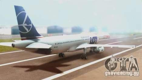 LOT Polish Airlines Airbus A320-200 (New Livery) для GTA San Andreas вид слева