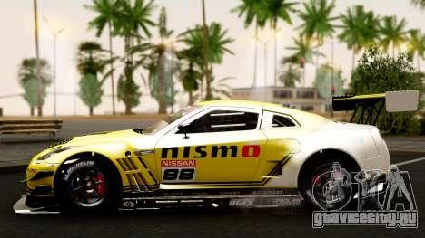 Nissan GT-R (R35) GT3 2012 PJ4 для GTA San Andreas вид сбоку