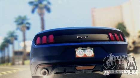 Ford Mustang GT 2015 Stock Tunable v1.0 для GTA San Andreas вид справа