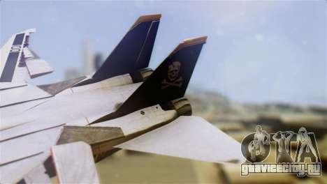 F-14D Tomcat Macross Yellow & Black для GTA San Andreas вид сзади слева