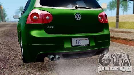 Volkswagen Golf Mk5 GTi Tunable PJ для GTA San Andreas вид сверху