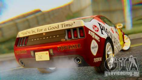 GTA 5 Vapid Dominator Pisswasser SA Lights для GTA San Andreas вид слева