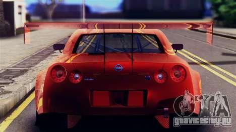 Nissan GT-R (R35) GT3 2012 PJ5 для GTA San Andreas вид сзади