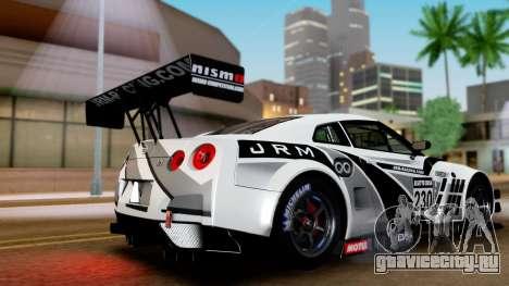 Nissan GT-R (R35) GT3 2012 PJ4 для GTA San Andreas