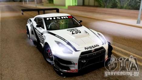 Nissan GT-R (R35) GT3 2012 PJ4 для GTA San Andreas вид слева