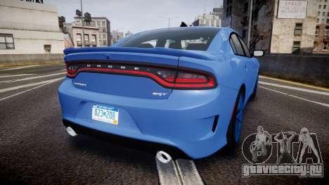 Dodge Charger SRT 2015 Hellcat для GTA 4 вид сзади слева